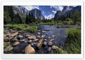 Merced River and Yosemite Valley HD Wide Wallpaper for 4K UHD Widescreen desktop & smartphone