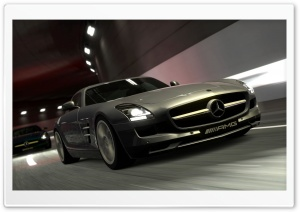 Mercedes Benz AMG SLS Gray HD Wide Wallpaper for Widescreen