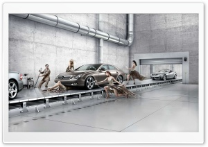 Mercedes Benz Assembly Line HD Wide Wallpaper for Widescreen