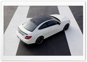 Mercedes Benz C63 AMG Coupe Rear HD Wide Wallpaper for Widescreen