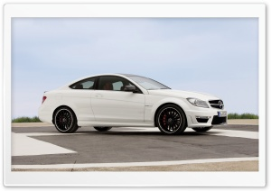 Mercedes Benz C63 Amg Coupe Sideways HD Wide Wallpaper for Widescreen