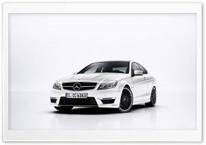 Mercedes Benz C63 AMG White HD Wide Wallpaper for Widescreen