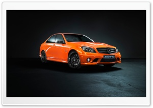 Mercedes Benz C63 Orange HD Wide Wallpaper for Widescreen
