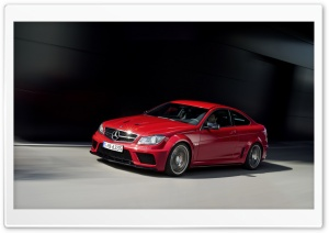 Mercedes Benz C 63 Amg Red Coupe HD Wide Wallpaper for Widescreen
