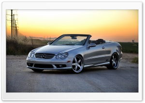Mercedes Benz CLK500 Convertible HD Wide Wallpaper for Widescreen