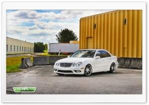 Mercedes Benz E350 I Stitched Production Photography HD Wide Wallpaper for Widescreen