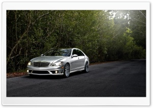Mercedes Benz S65 Amg Silver HD Wide Wallpaper for Widescreen