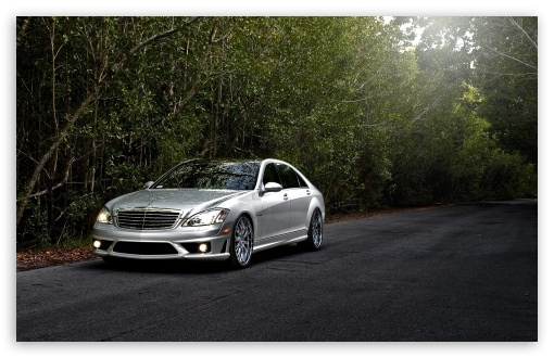 Download Mercedes Benz S65 Amg Silver UltraHD Wallpaper