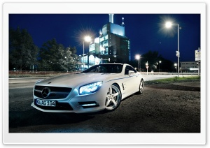 Mercedes Benz SL500, Night HD Wide Wallpaper for Widescreen