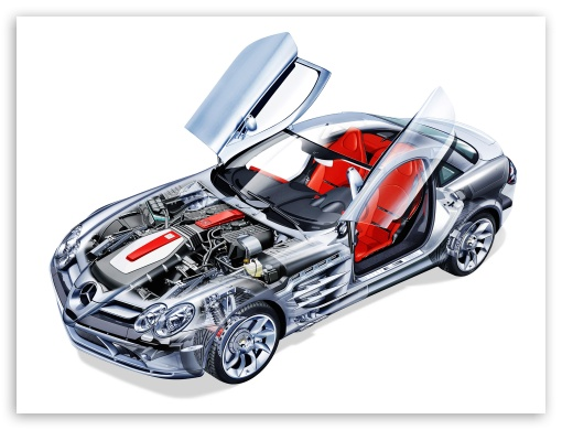 download mercedes benz slr mclaren cutaway wallpaper - Mercedes Benz Slr Wallpaper Hd