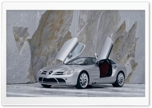 Mercedes Benz SLR McLaren Doors Open HD Wide Wallpaper for Widescreen