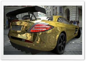Mercedes Benz SLR McLaren Gold HD Wide Wallpaper for Widescreen