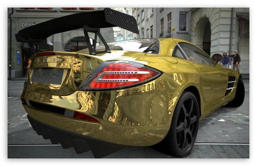 Mercedes Benz SLR McLaren Gold HD wallpaper for Wide 16:10 Widescreen WHXGA WQXGA WUXGA WXGA ; HD 16:9 High Definition WQHD QWXGA 1080p 900p 720p QHD nHD ; UHD 16:9 WQHD QWXGA 1080p 900p 720p QHD nHD ; Mobile 16:9 - WQHD QWXGA 1080p 900p 720p QHD nHD ;