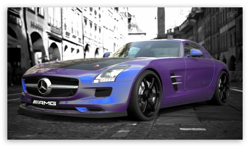 Mercedes-Benz SLS AMG HD wallpaper for HD 16:9 High Definition WQHD QWXGA 1080p 900p 720p QHD nHD ; Mobile 16:9 - WQHD QWXGA 1080p 900p 720p QHD nHD ;