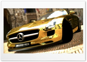 Mercedes Benz SLS AMG Gold Ultra HD Wallpaper for 4K UHD Widescreen desktop, tablet & smartphone