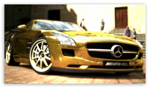 Mercedes Benz SLS AMG Gold HD wallpaper for HD 16:9 High Definition WQHD QWXGA 1080p 900p 720p QHD nHD ; UHD 16:9 WQHD QWXGA 1080p 900p 720p QHD nHD ; Mobile 16:9 - WQHD QWXGA 1080p 900p 720p QHD nHD ; Dual 5:4 QSXGA SXGA ;