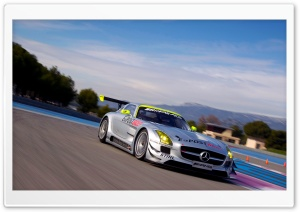 Mercedes Benz SLS Amg GT3 On Track HD Wide Wallpaper for 4K UHD Widescreen desktop & smartphone