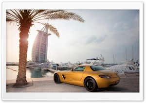 Mercedes Benz SLS Amg in Dubai HD Wide Wallpaper for Widescreen