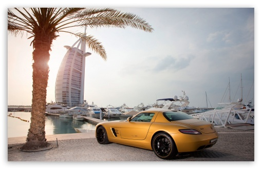 Download Mercedes Benz SLS Amg In Dubai HD Wallpaper