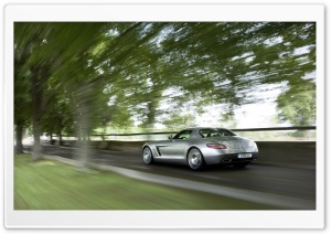 Mercedes Benz SLS AMG Rear View HD Wide Wallpaper for Widescreen