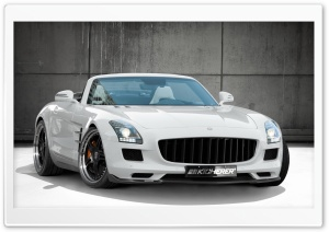 Mercedes SLS 63 AMG Roadster White HD Wide Wallpaper for Widescreen
