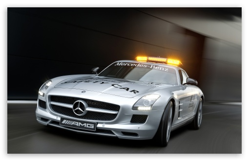 Download Mercedes SLS AMG Police Car UltraHD Wallpaper