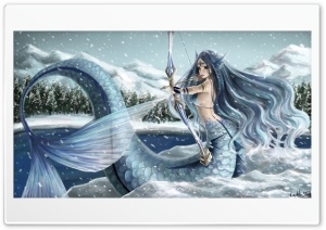 Mermaid Painting Art Ultra HD Wallpaper for 4K UHD Widescreen desktop, tablet & smartphone