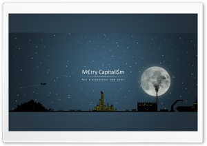 Merry Capitalism And A Prosperous New Year Ultra HD Wallpaper for 4K UHD Widescreen desktop, tablet & smartphone