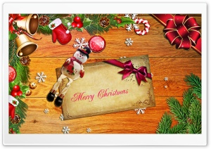Merry Christmas Ultra HD Wallpaper for 4K UHD Widescreen desktop, tablet & smartphone