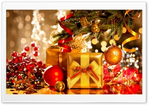 Merry Christmas and Happy New Year HD Wide Wallpaper for Widescreen
