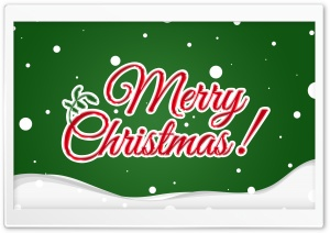 Merry Christmas Card 2016 HD Wide Wallpaper for Widescreen