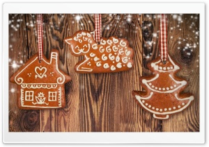 Merry Christmas Gingerbread HD Wide Wallpaper for Widescreen