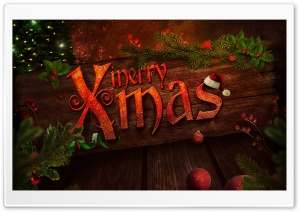 Merry Xmas HD Wide Wallpaper for Widescreen