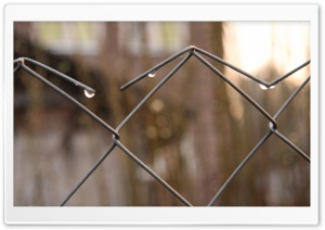 Mesh Fence Close Up HD Wide Wallpaper for Widescreen
