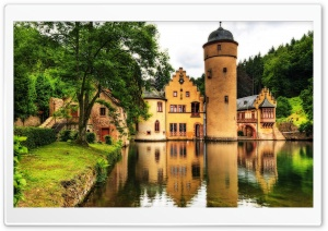 Mespelbrunn Castle, Germany HD Wide Wallpaper for Widescreen