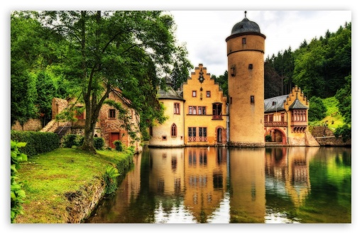 Mespelbrunn Castle, Germany HD wallpaper for Standard 4:3 5:4 Fullscreen UXGA XGA SVGA QSXGA SXGA ; Wide 16:10 5:3 Widescreen WHXGA WQXGA WUXGA WXGA WGA ; HD 16:9 High Definition WQHD QWXGA 1080p 900p 720p QHD nHD ; Other 3:2 DVGA HVGA HQVGA devices ( Apple PowerBook G4 iPhone 4 3G 3GS iPod Touch ) ; Mobile VGA WVGA iPhone iPad PSP Phone - VGA QVGA Smartphone ( PocketPC GPS iPod Zune BlackBerry HTC Samsung LG Nokia Eten Asus ) WVGA WQVGA Smartphone ( HTC Samsung Sony Ericsson LG Vertu MIO ) HVGA Smartphone ( Apple iPhone iPod BlackBerry HTC Samsung Nokia ) Sony PSP Zune HD Zen ; Tablet 2 Android ;