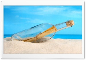 Message Bottle HD Wide Wallpaper for Widescreen