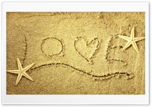 Message in the Sand HD Wide Wallpaper for Widescreen