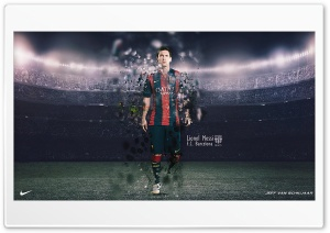 Messi HD Wide Wallpaper for Widescreen