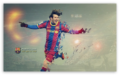 Messi Barcelona HD wallpaper for Wide 5:3 Widescreen WGA ; HD 16:9 High Definition WQHD QWXGA 1080p 900p 720p QHD nHD ; Mobile 5:3 16:9 - WGA WQHD QWXGA 1080p 900p 720p QHD nHD ;