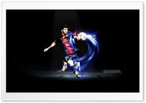 Messi Kick HD Wide Wallpaper for Widescreen