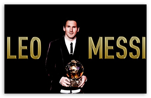 Messi with the Ballon d'or... HD wallpaper for Wide 16:10 5:3 Widescreen WHXGA WQXGA WUXGA WXGA WGA ; HD 16:9 High Definition WQHD QWXGA 1080p 900p 720p QHD nHD ; Standard 3:2 Fullscreen DVGA HVGA HQVGA devices ( Apple PowerBook G4 iPhone 4 3G 3GS iPod Touch ) ; Mobile 5:3 3:2 16:9 - WGA DVGA HVGA HQVGA devices ( Apple PowerBook G4 iPhone 4 3G 3GS iPod Touch ) WQHD QWXGA 1080p 900p 720p QHD nHD ; Dual 16:9 4:3 WQHD QWXGA 1080p 900p 720p QHD nHD UXGA XGA SVGA ;