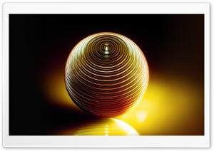 Metal Sphere 3D Art Ultra HD Wallpaper for 4K UHD Widescreen desktop, tablet & smartphone