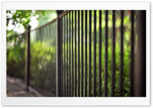 Metalic Fence Bokeh HD Wide Wallpaper for Widescreen