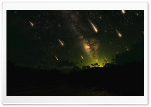 Meteor Shower HD Wide Wallpaper for Widescreen