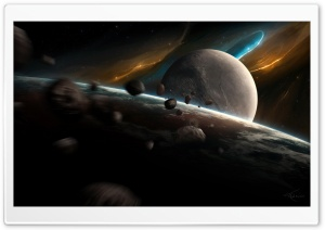Meteorites In Space HD Wide Wallpaper for Widescreen