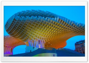 Metropol Parasol, Seville, Spain HD Wide Wallpaper for 4K UHD Widescreen desktop & smartphone