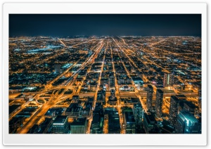 Metropolis At Night HD Wide Wallpaper for Widescreen