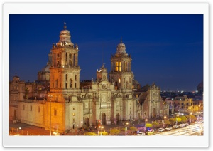 Mexico City Metropolitan Cathedral HD Wide Wallpaper for 4K UHD Widescreen desktop & smartphone