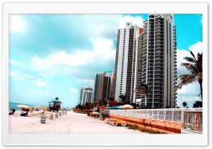 Miami Beach HD Wide Wallpaper for Widescreen